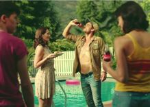 Coke commercial shows brother and sister fighting over the hot pool boy