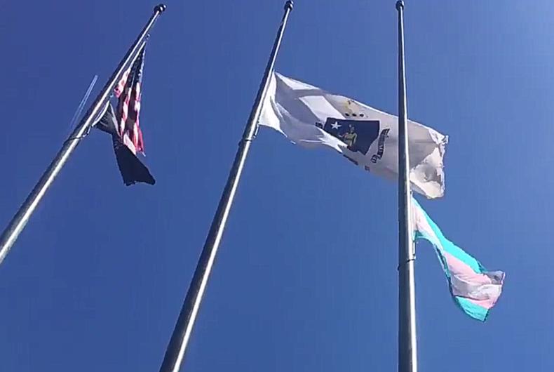 Boston raises transgender flag in response to hate bus