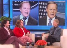 Melissa McCarthy talks to Ellen about playing Sean Spicer