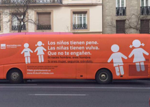 Madrid tows away & bans bus with anti-transgender messages painted on side