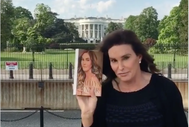 What was Caitlyn Jenner doing at the White House?