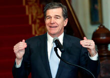 NC governor ran against anti-LGBT law & now he has to defend his fake 'fix'