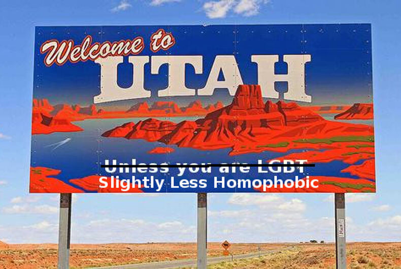 Gay groups are negotiating with Utah to end the state's 'no promo homo' law