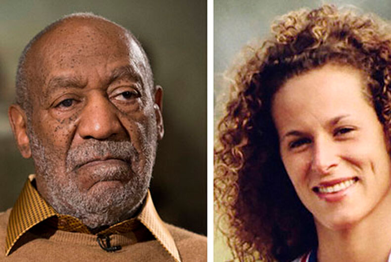Bill Cosby, left, and Andrea Constand