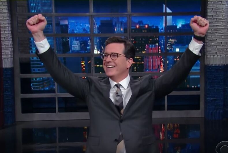 #FireColbert: Stephen Colbert responds to accusations of homophobia