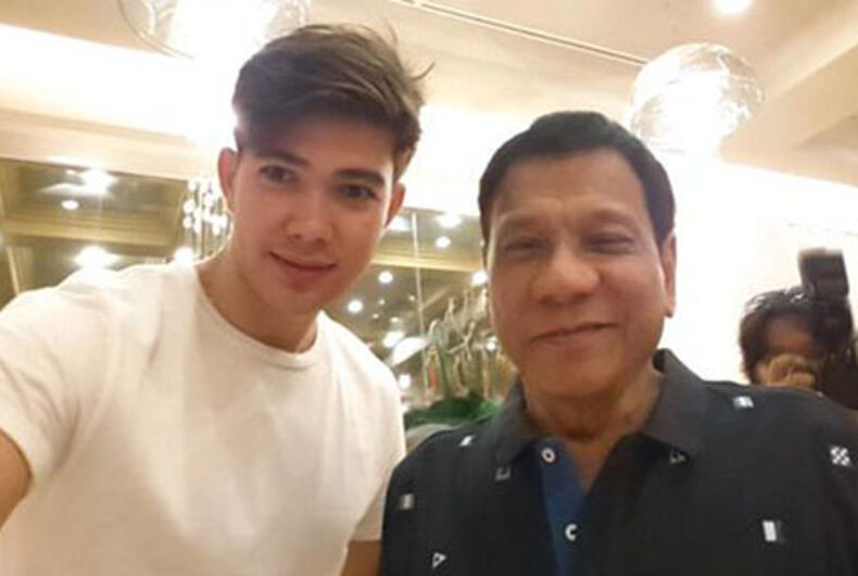 Philippines president jokes 'I might turn gay' from all his selfies with men