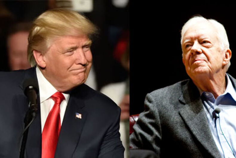 Jimmy Carter just tore into Donald Trump in the nicest way possible