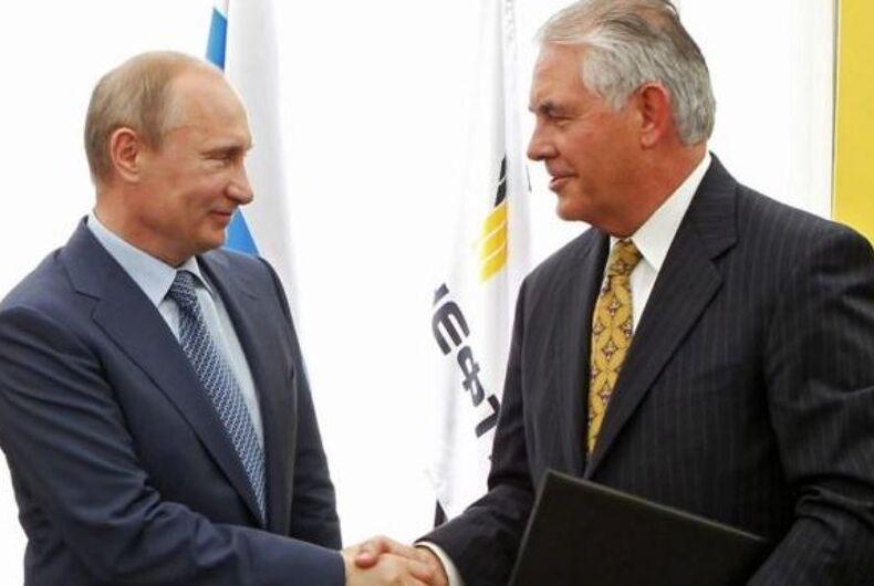 Rex Tillerson Vladimir Putin