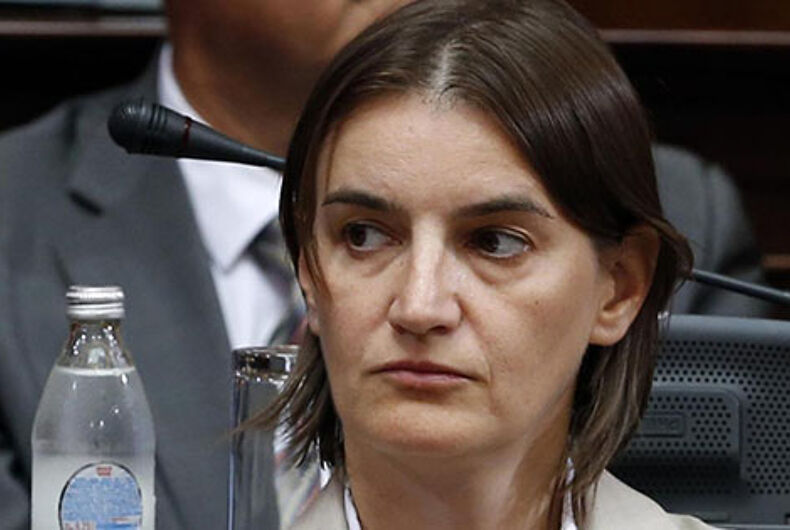 Lesbian nominated to be prime minister of Serbia