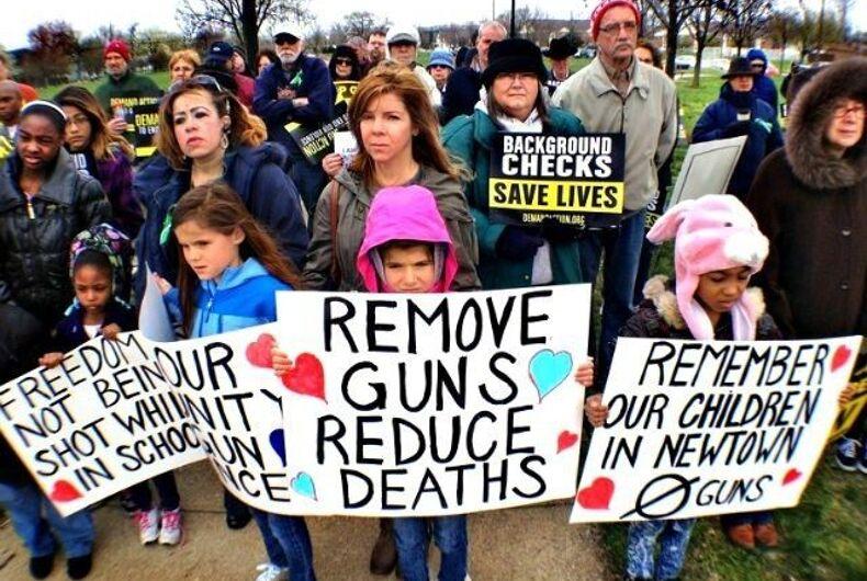 Newtown shooting gun control protest