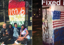 Students shocked after Trump supporters paint over their Pride display
