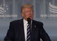 Trump pledges to defend religious freedom from attacks at anti-LGBTQ conference