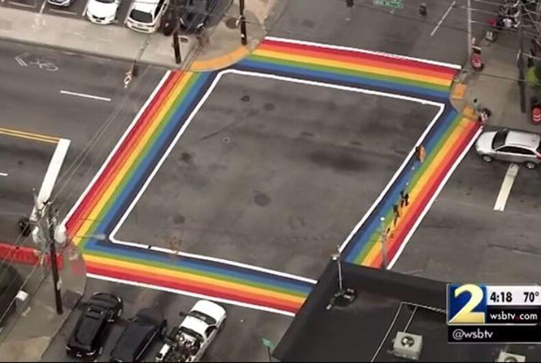 Atlanta rainbow crosswalk