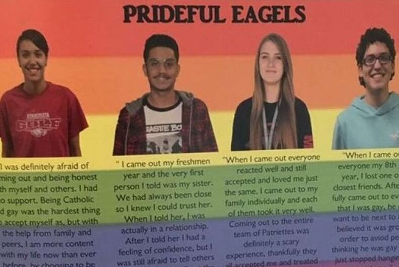 Parents are flipping out over this pride section in a Texas high school yearbook