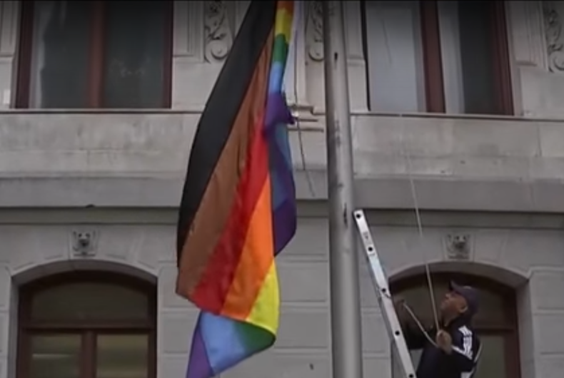Philadelphia shouldn't have added black & brown stripes to the rainbow