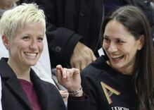 Joe Biden is celebrating Megan Rapinoe & Sue Bird's engagement. Trump isn't.