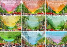 Montreal celebrates pride with extraordinary display of rainbow lights