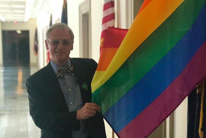 Earl Blumenauer pride flag