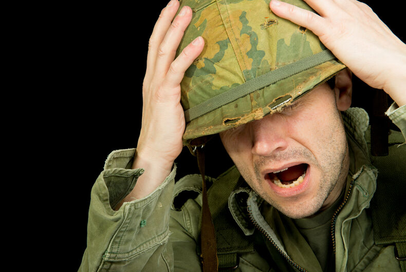 Are straight cisgender soldiers so scared of trans people they can't fight?