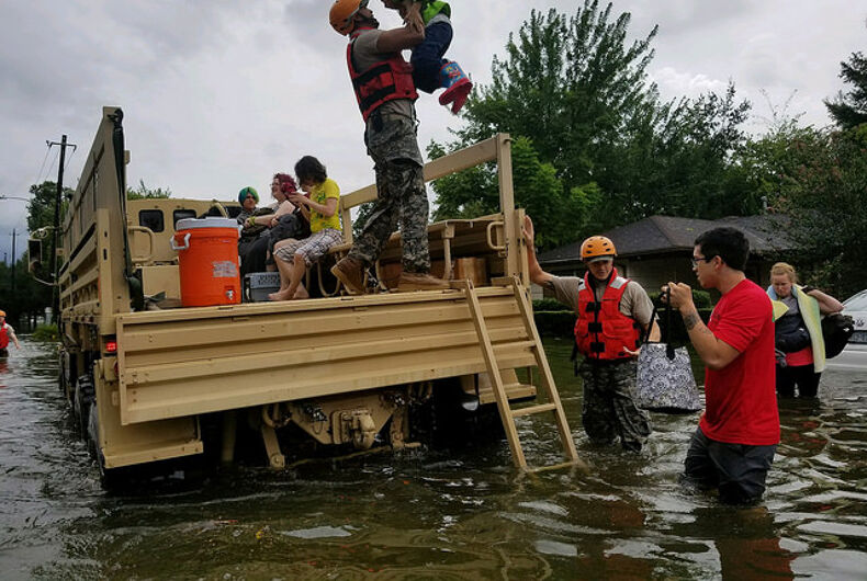 You'll never guess who Christian leaders are blaming for Hurricane Harvey. Ok, you will.