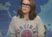 Tina Fey, Seth Meyers & Jimmy Fallon join SNL Weekend Update to shred Donald Trump & racists