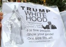 Pranksters stock Trump Tower gift shop with hilarious 'souvenirs' like a Klan hood
