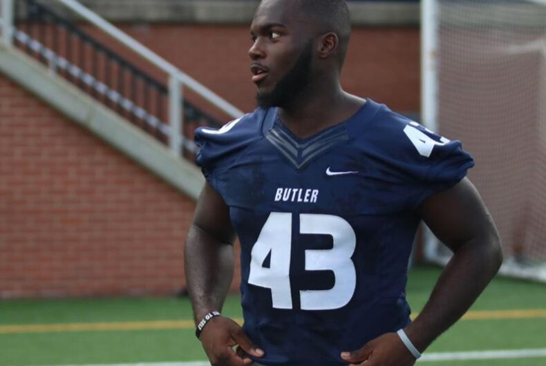 This Indiana college football player stood up in front of his teammates & came out as gay