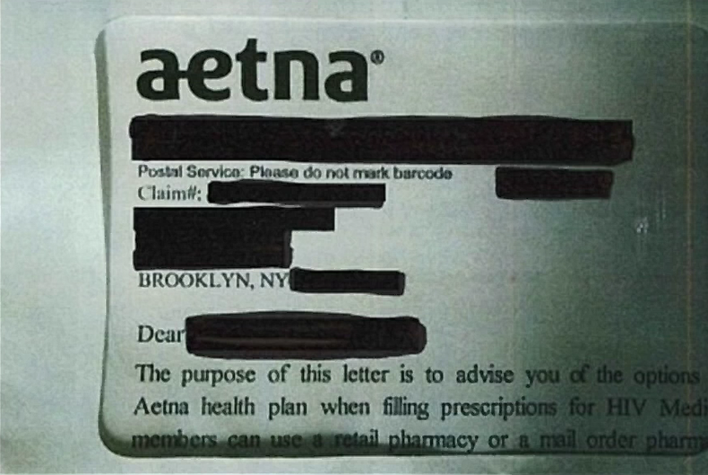 aetna hiv outing letter