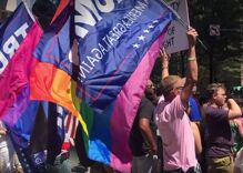 Gay Trump supporters & religious nutjobs protested the Charlotte Pride parade