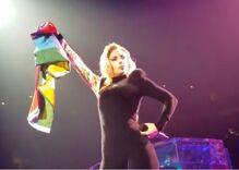 Lady Gaga took a fan's pride flag at a concert & magic happened