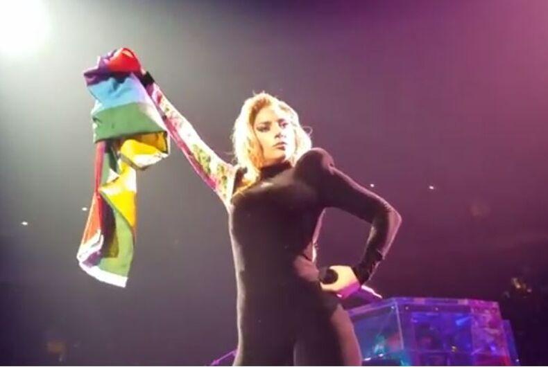 Lady Gaga pride flag