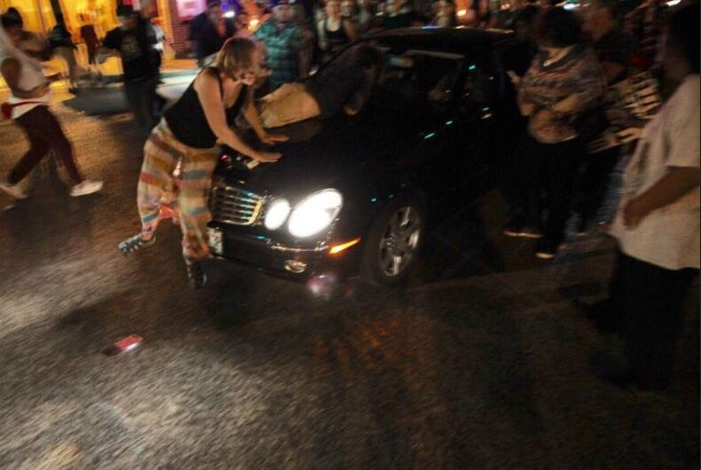 Car plows through trans lives matter vigil for woman killed by police