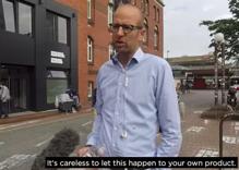 Activist spray-paints hateful tweets on Twitter's doorstep
