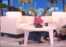 Watch as Ellen DeGeneres terrifies Sarah Paulson with a clown
