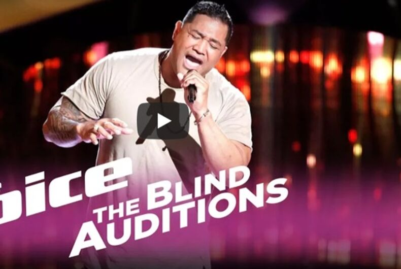 Watch this gay former NFL player blow the Voice judges away