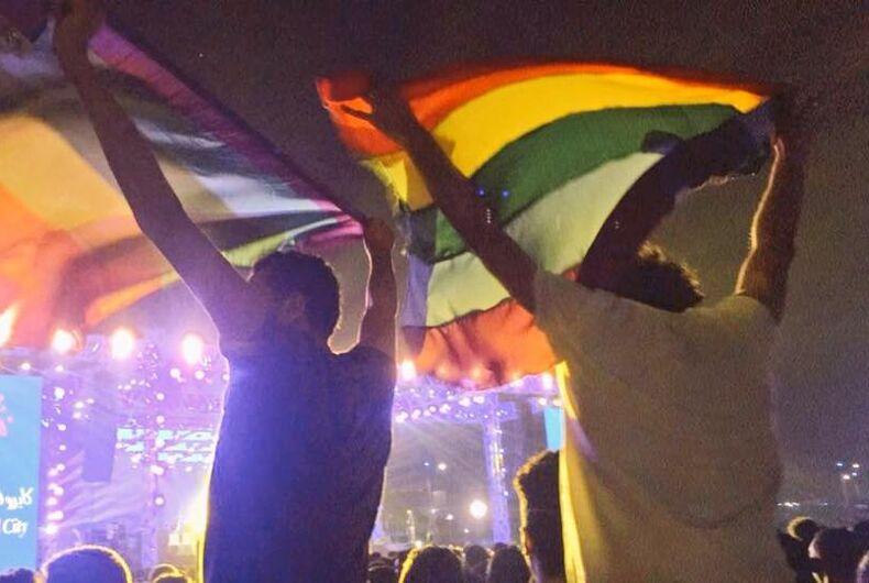 Cairo concert pride flag