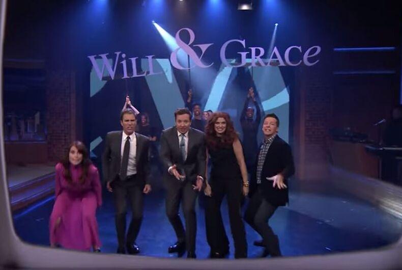 will and grace theme jimmy fallon