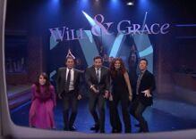Will & Grace cast drop by The Tonight Show to sing the show's theme song with Jimmy Fallon