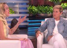 Miley Cyrus got emotional on 'Ellen'