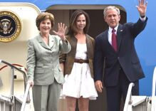 Before Bush campaigned against marriage equality, one of his daughters tried to change his mind