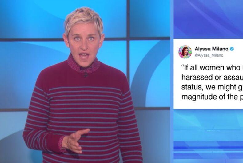 Ellen DeGeneres: Me too