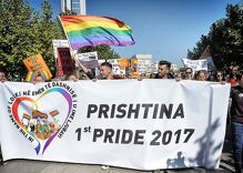 Kosovo holds first official pride parade in the face of death threats