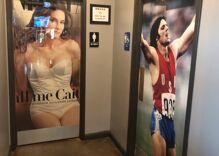 A Texas restaurant is using photos of Caitlyn Jenner as bathroom signs