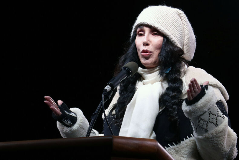 It looks like Cher will be in the Will & Grace holiday episode