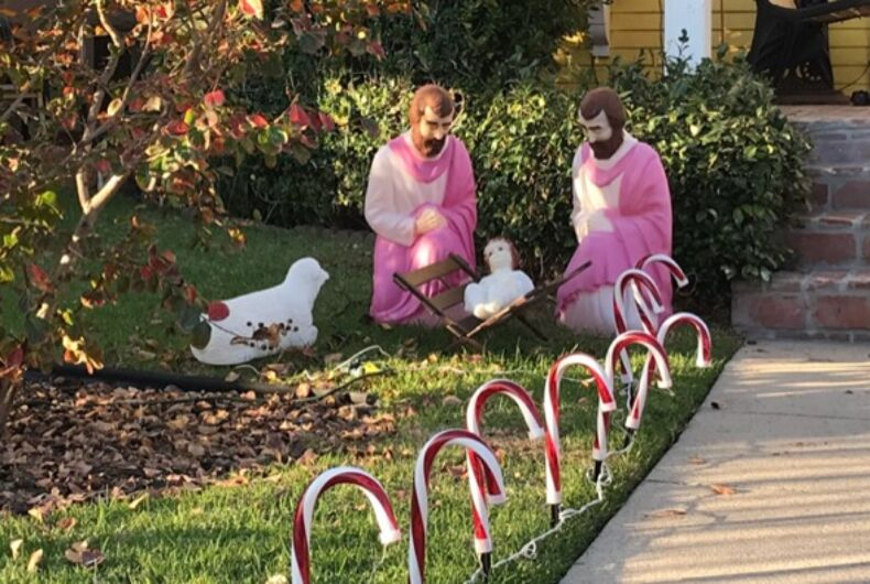 This gay Nativity scene is everything you need to start the holiday season out right