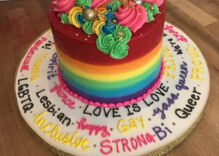 A man asked a bakery to make him the gayest cake possible & the results are magical