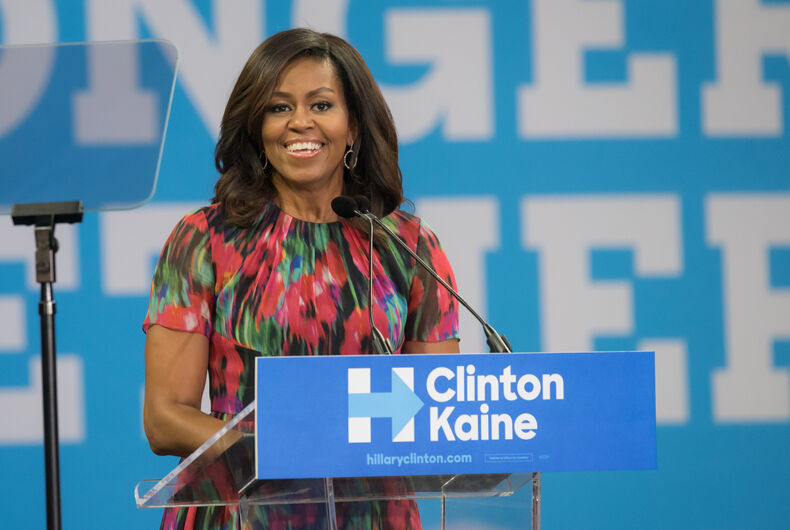 Michelle Obama speaking to students at NC State University on October 4th, 2016 in Raleigh.