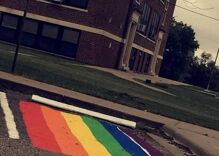Conservatives freaked out over a student's rainbow. So his school ended a tradition.