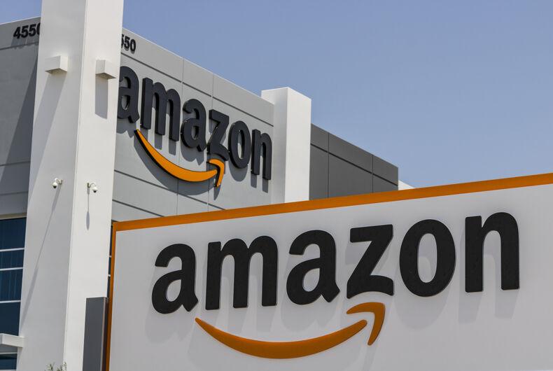 An Amazon building