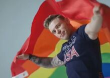 Gay skier qualifies for the Olympics as his 'pride' shampoo commercial starts airing